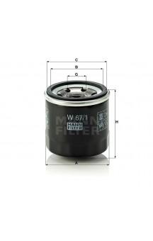 W67/1 Фильтр масляный MANN-FILTER