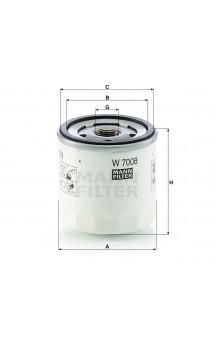 W7008 Фильтр масляный MANN-FILTER