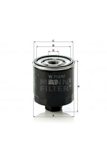 W712/52 Фильтр масляный MANN-FILTER