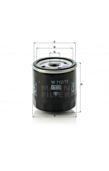 W712/75 Фильтр масляный MANN-FILTER