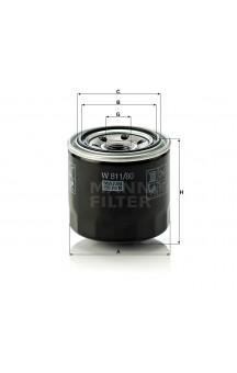 W811/80 Фильтр масляный MANN-FILTER
