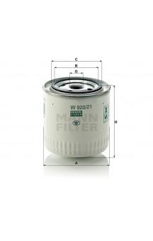 W920/21 Фильтр масляный MANN-FILTER