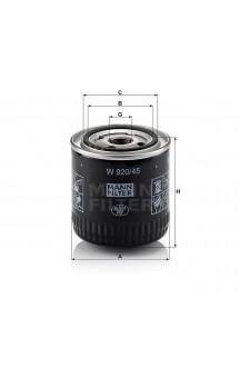 W920/45 Масляный фильтр MANN-FILTER